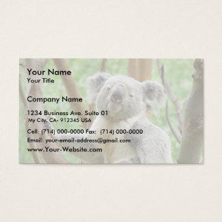Koala Bear Sitting On The Tree At Perth Zoo Business Card