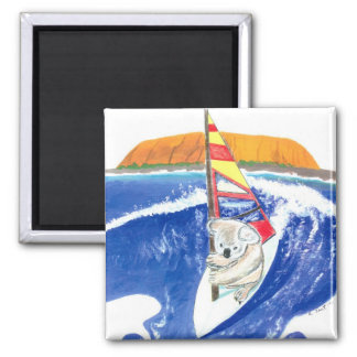 Koala Bear WindSurfing Spirit of Australia Magnet