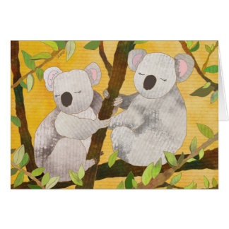 Koala Bears Blank Card