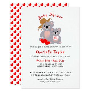 Koala Bears Super Cute Baby Shower Invite