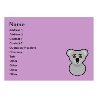 Koala cartoon business cards
