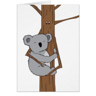 Koala Cuddle Card