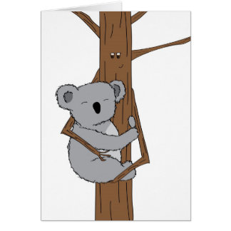 Koala Cuddle Greeting Card