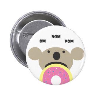 Koala Donut Diet 6 Cm Round Badge