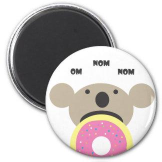 Koala Donut Diet 6 Cm Round Magnet