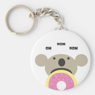 Koala Donut Diet Basic Round Button Key Ring