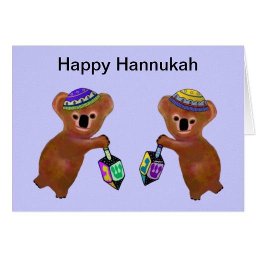 Koala Driedel Hannukah Card