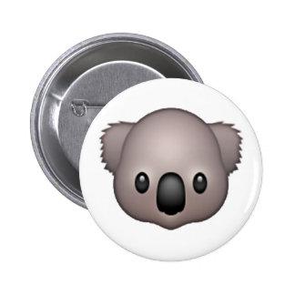 Koala - Emoji 6 Cm Round Badge