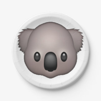 Koala - Emoji 7 Inch Paper Plate