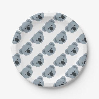 Koala emoji 7 inch paper plate