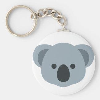 Koala emoji basic round button key ring