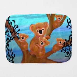 Koala Family Habitat Baby Burp Cloth