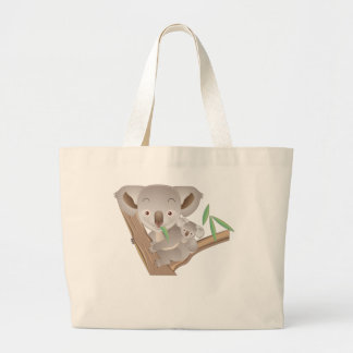 Koala Family Large Tote Bag