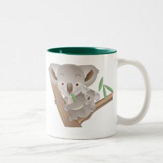 Koala Family Two-Tone Mug