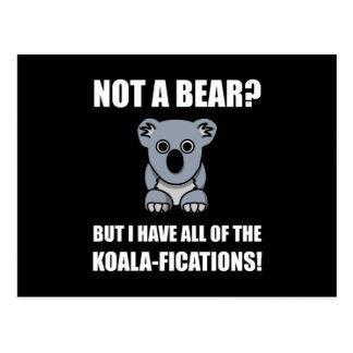 Koala Fications Postcard
