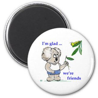 Koala Friends 6 Cm Round Magnet