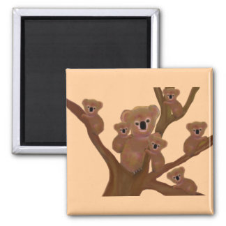 Koala Fun Square Magnet