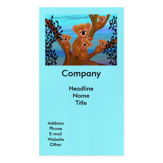 Koala Habitat Double-Sided Standard Business Cards (Pack Of 100)