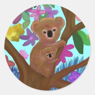 Koala Habitat Classic Round Sticker