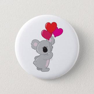 Koala Heart Balloons 6 Cm Round Badge