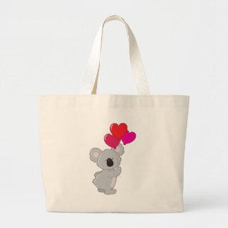 Koala Heart Balloons Tote Bag