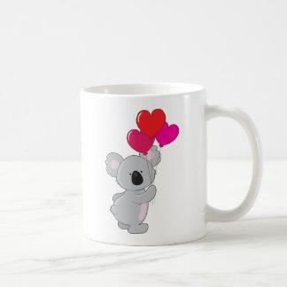 Koala Heart Balloons Basic White Mug
