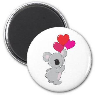 Koala Heart Balloons Magnet