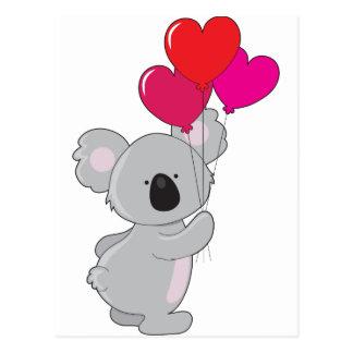 Koala Heart Balloons Postcard