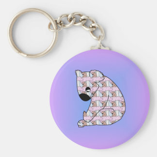 Koala in Koala Basic Round Button Key Ring