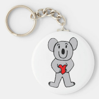 Koala in Love Keychain