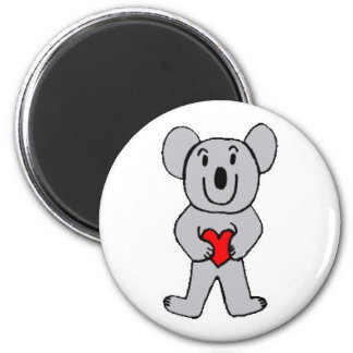Koala in Love round magnet