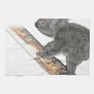 Koala In Profile Climbing Tea Towel