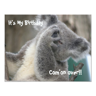 Koala Invite Birthday Party