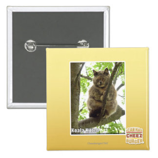 Koala Kitteh 15 Cm Square Badge