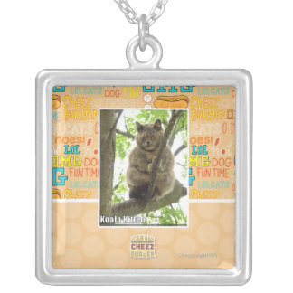 Koala Kitteh Silver Plated Necklace