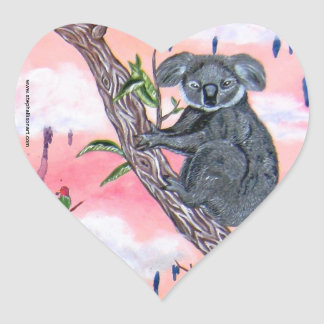 Koala Love Heart Sticker