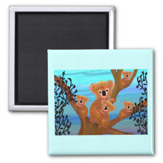 Koala Love Square Magnet