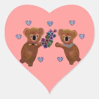 Koala Luv You Heart Sticker