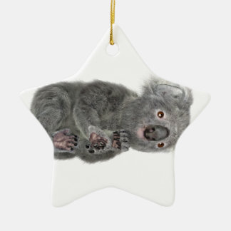 Koala Lying Down Ceramic Star Decoration