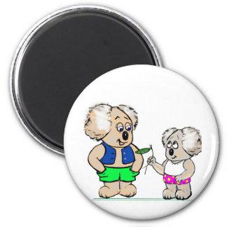 Koala Mates 6 Cm Round Magnet