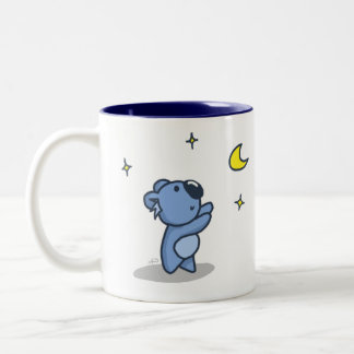 Koala Moon - Blue Two-Tone Coffee Mug