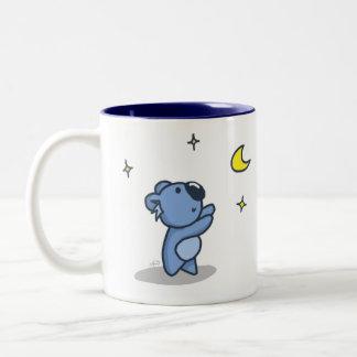 Koala Moon - Blue Two-Tone Mug