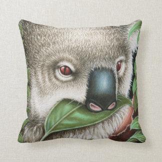 Koala Munching a Leaf American MoJo Pillow