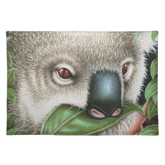 Koala Munching a Leaf American MoJo Placemat