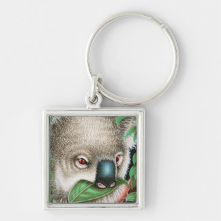 Koala Munching a Leaf Keychain