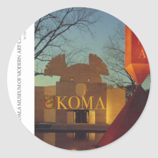 Koala Museum Round Sticker