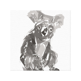 Koala polygon art illustration canvas print
