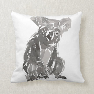 Koala polygon art illustration cushion