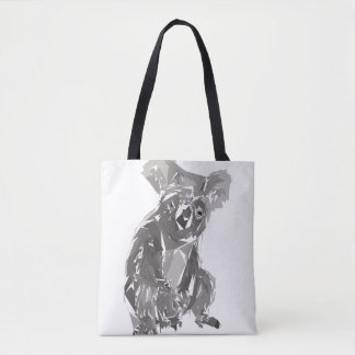 Koala polygon art illustration tote bag