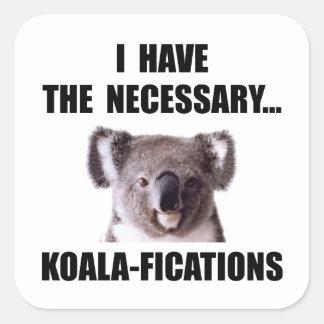 Koala Qualifications Square Sticker
